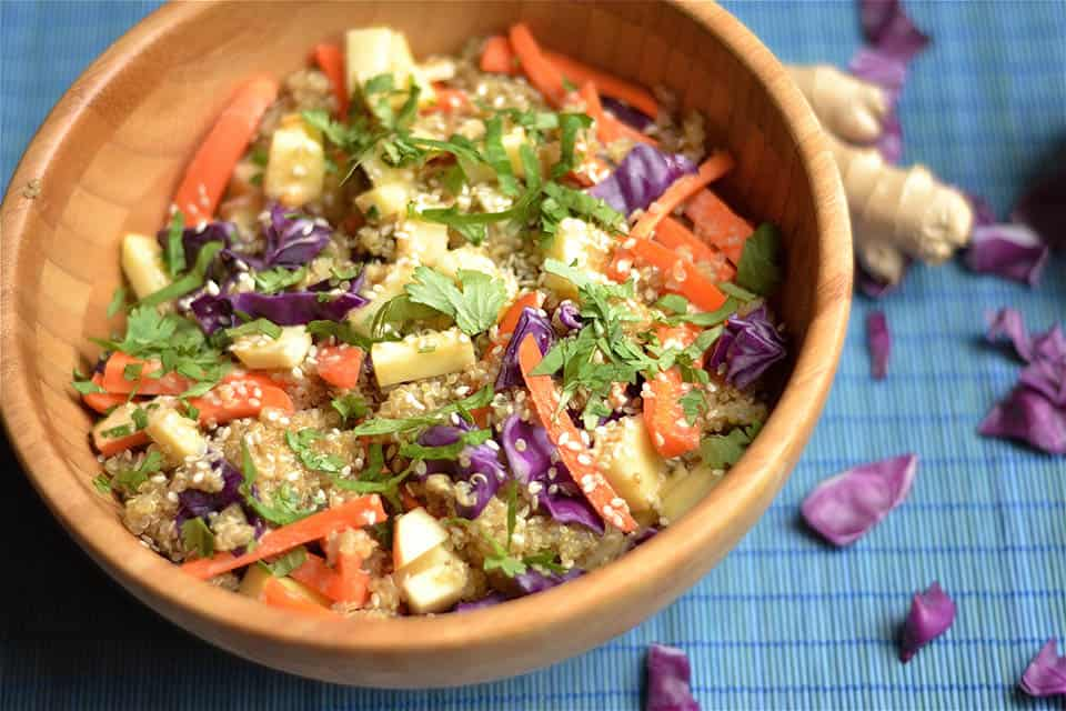 Carrot & Apple Asian Quinoa Salad2