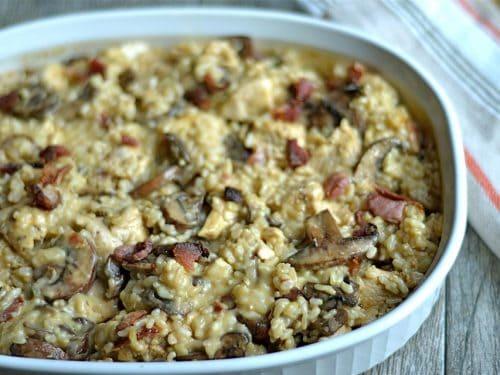 Chicken Mushroom Rice Casserole Recipe