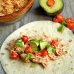 Slow Cooker or Instant Pot Creamy Chipotle Chicken Tacos