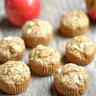 Spiced Apple Zucchini Muffins