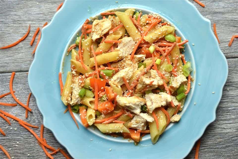 Thai Peanut Chicken Pasta Salad2