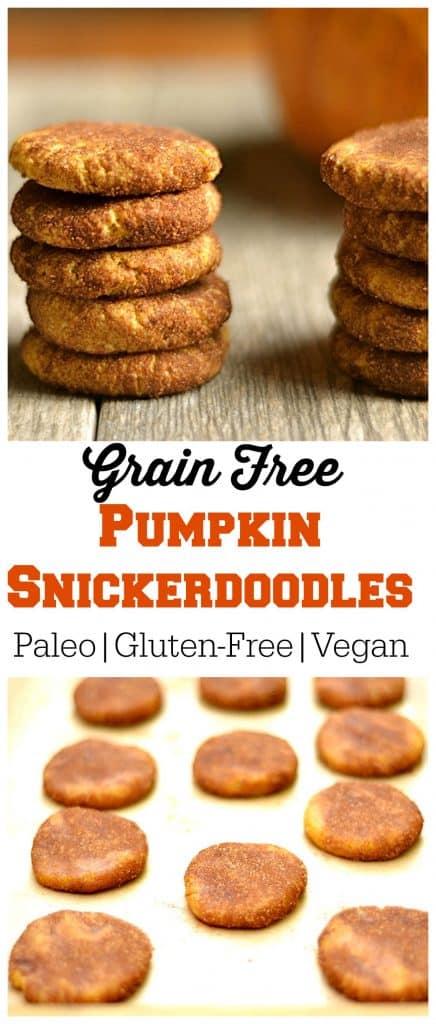 Grain Free Pumpkin Snickerdoodles Pin