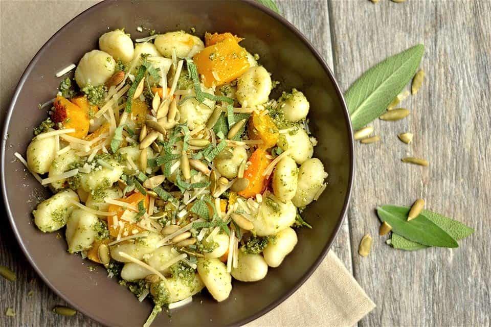 Pumpkin Seed Pesto and Butternut Squash Gnocchi