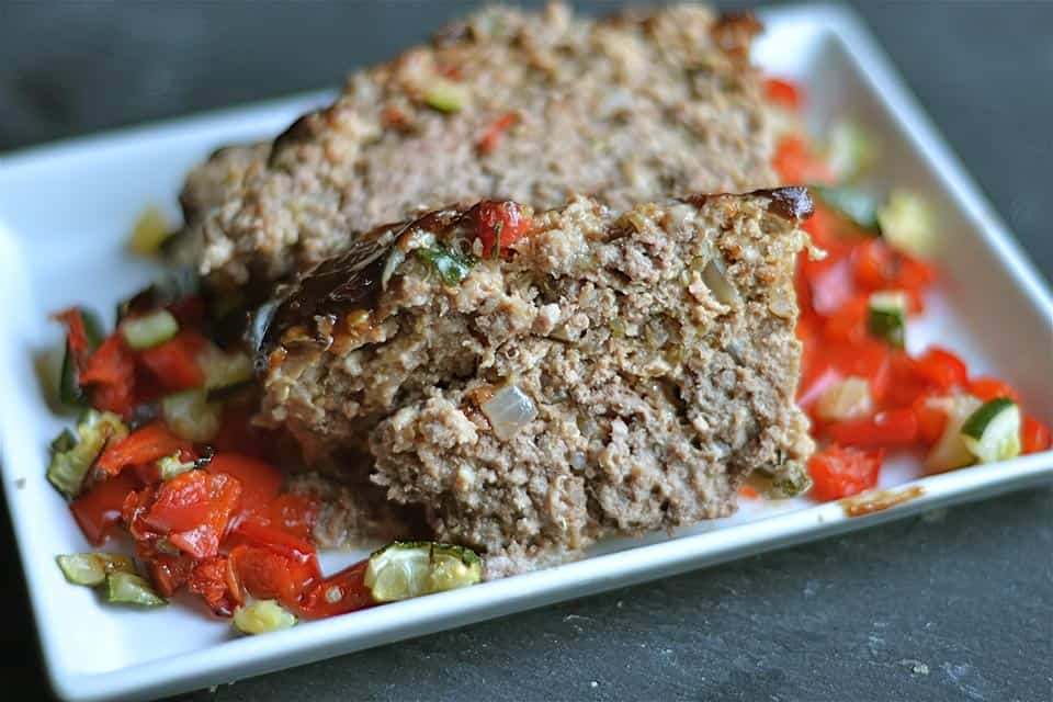 Roasted Vegetable Meatloaf with Quinoa