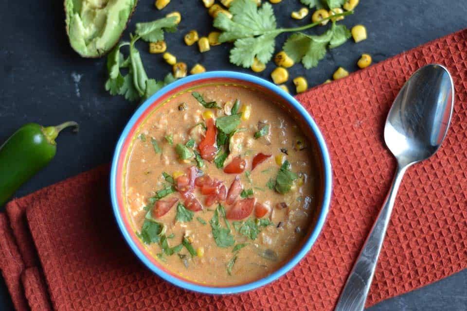 Creamy Chicken Enchilada Soup 3