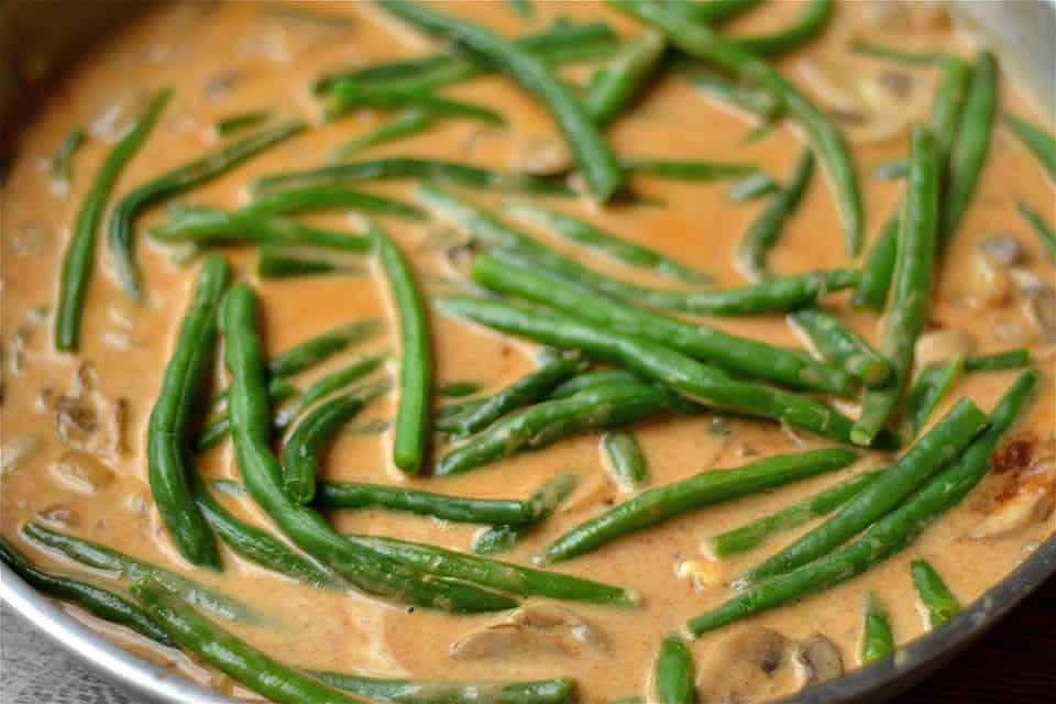Paleo Spicy Green Bean and Mushroom Skillet 3