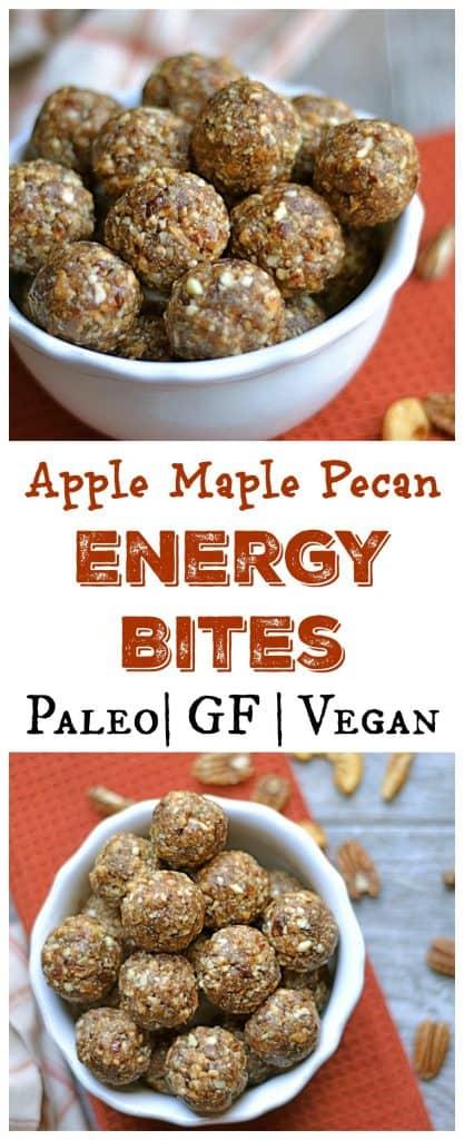 Apple Maple Pecan Energy Bites Pin
