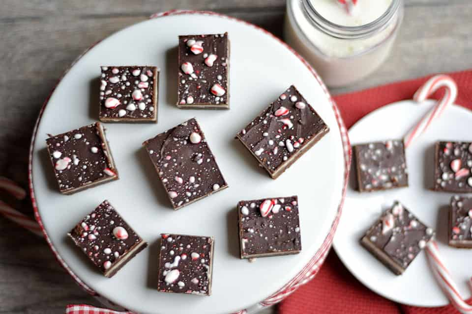 Mocha Peppermint 3-Layer Brownies 2