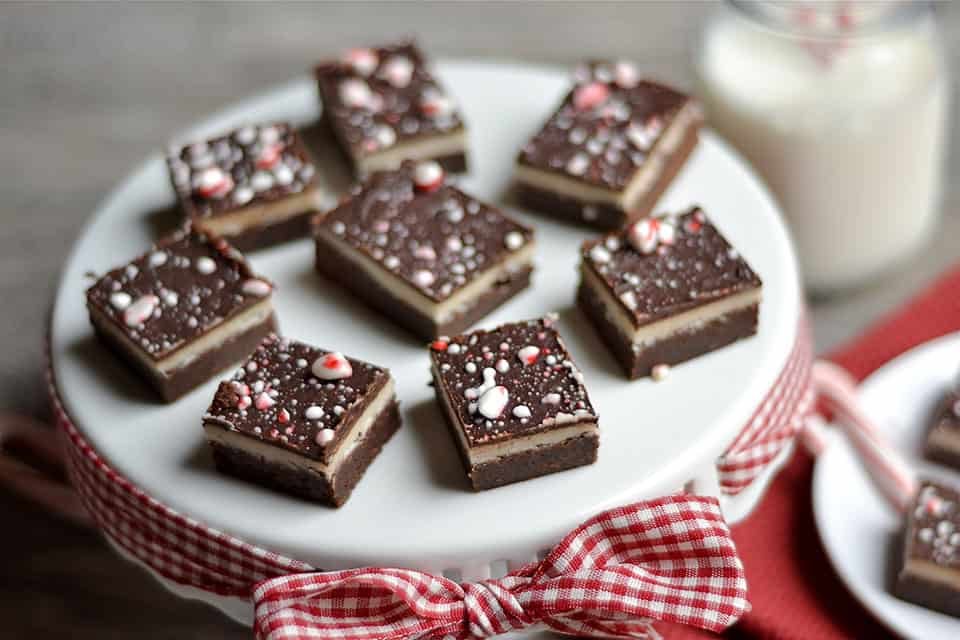 Mocha Peppermint 3-Layer Brownies 3