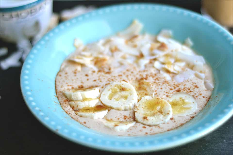 Peanut Butter and Banana Smoothie Bowl with Toasted Coconut 2