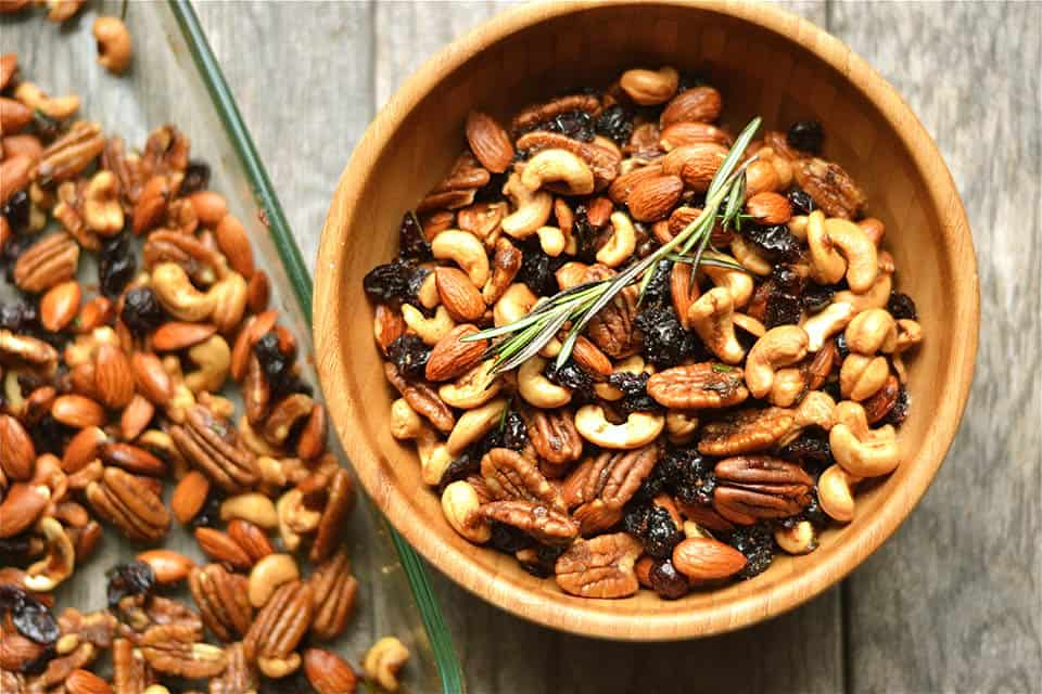Rosemary and Chipotle Spiced Sweet Snack Mix