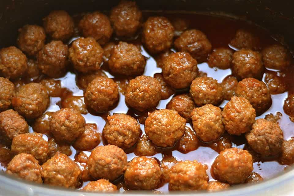 Slow Cooker Sweet and Spicy Meatballs 4