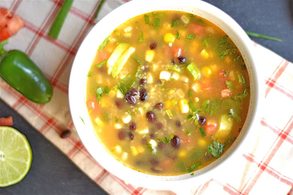 Mexican Black Bean Quinoa Soup 2