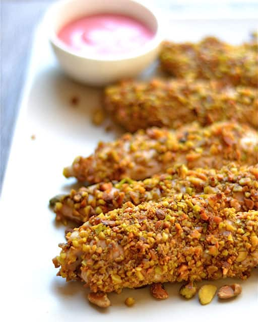 Pistachio Crusted Chicken with Raspberry Mustard Sauce 2