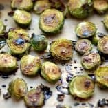Roasted Honey Garlic Balsamic Brussels Sprouts