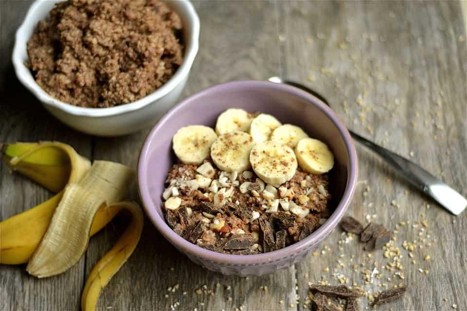 Slow Cooker Chunky Monkey Oatmeal and Quinoa 2