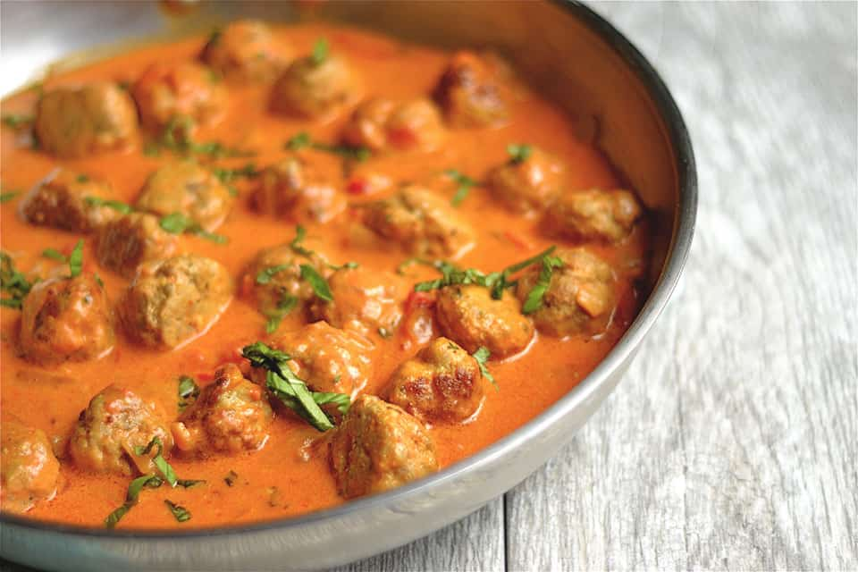 Thai Coconut Red Curry Turkey Meatballs 3