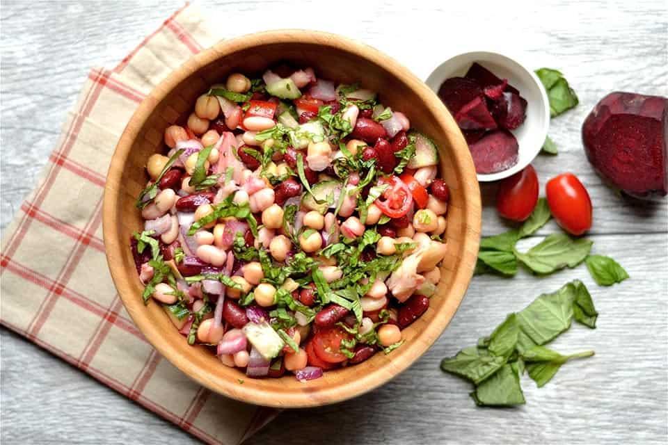 Three Bean Artichoke and Beet Salad 2