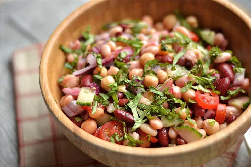 Three Bean Artichoke and Beet Salad 3