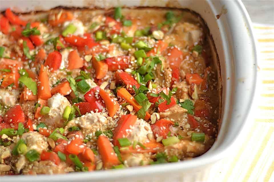 Peanut Chicken Quinoa Bake 2
