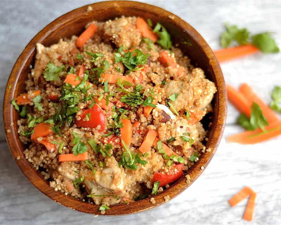 Peanut Chicken Quinoa Bake 3