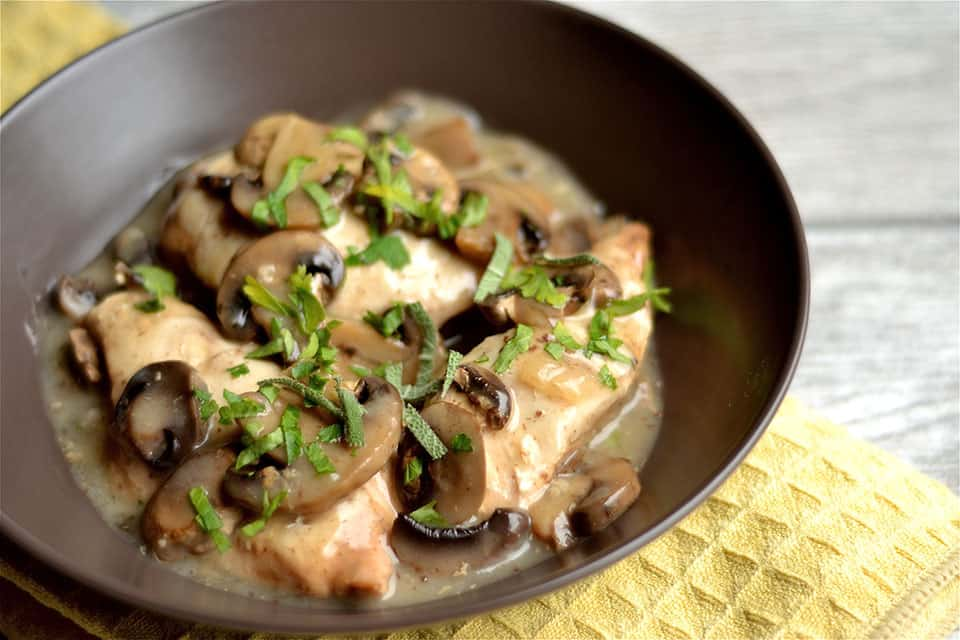 Slow Cooker Chicken Marsala 3