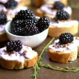 Blackberry, Thyme, and Goat Cheese Crostini
