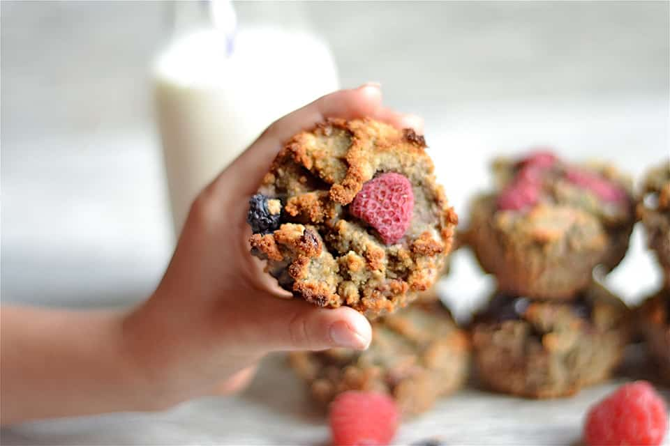 Grain-Free Berry Banana Muffins copy