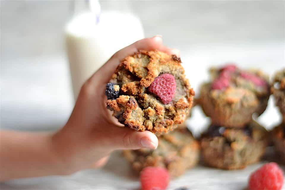 Grain-Free Berry Banana Muffins copy
