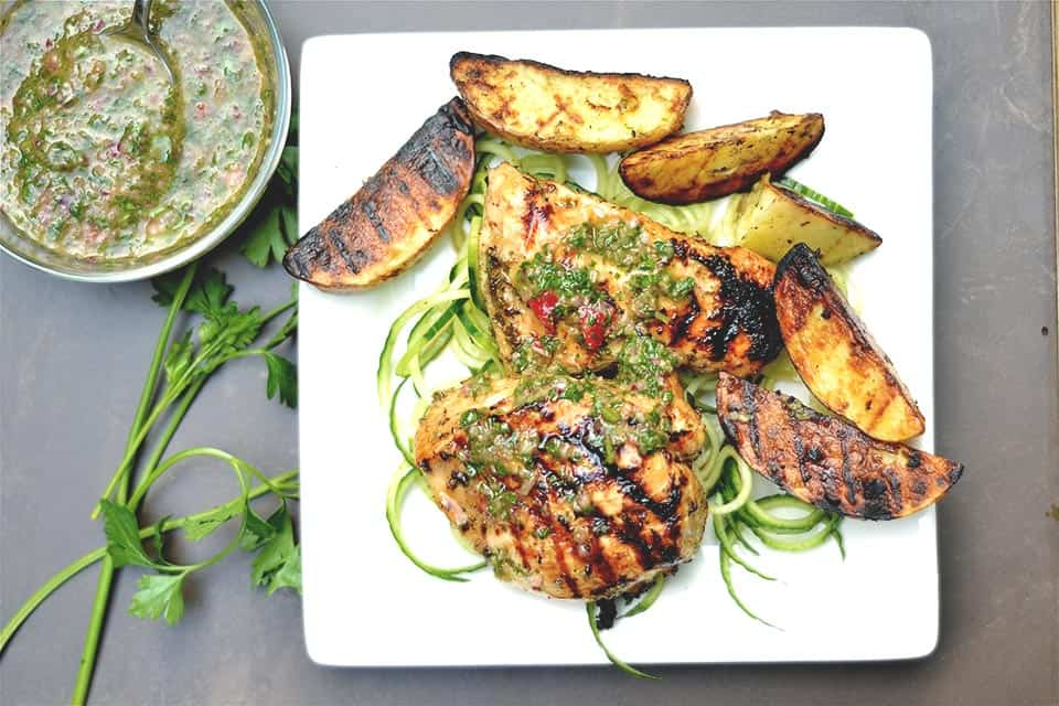 Grilled Chimichurri Chicken and Potatoes 2