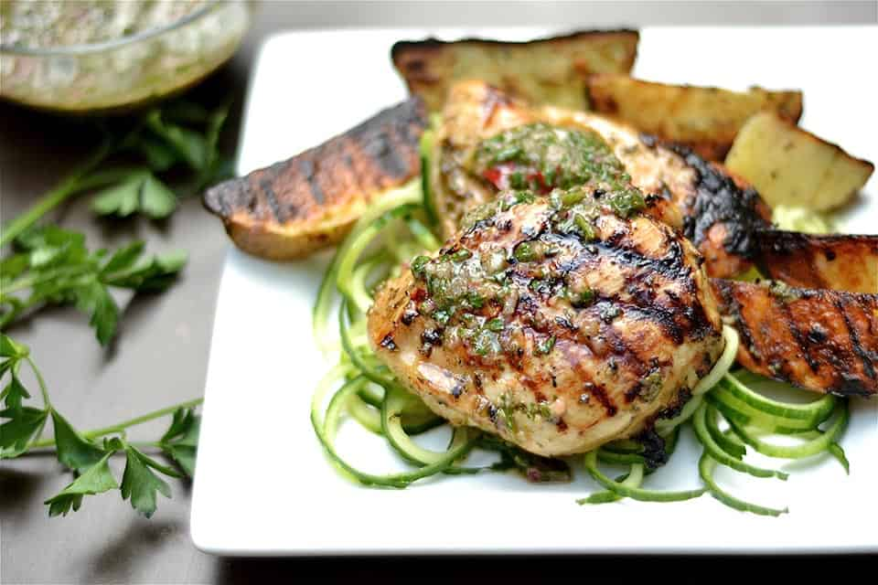 Grilled Chimichurri Chicken and Potatoes 3
