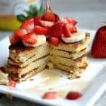 Strawberry Banana Protein Pancakes