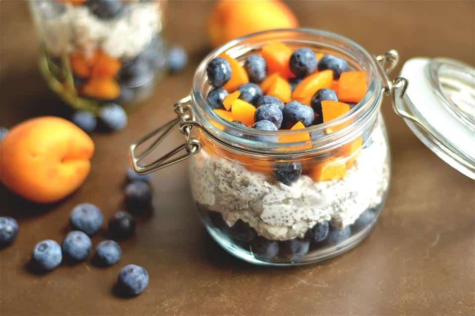 Apricot Blueberry Chia Pudding