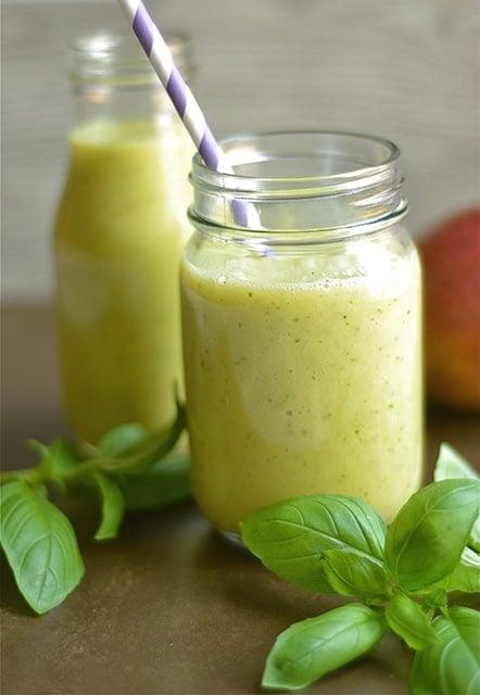 Mango Basil Smoothie 2