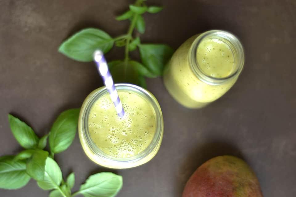 Mango Basil Smoothie 3