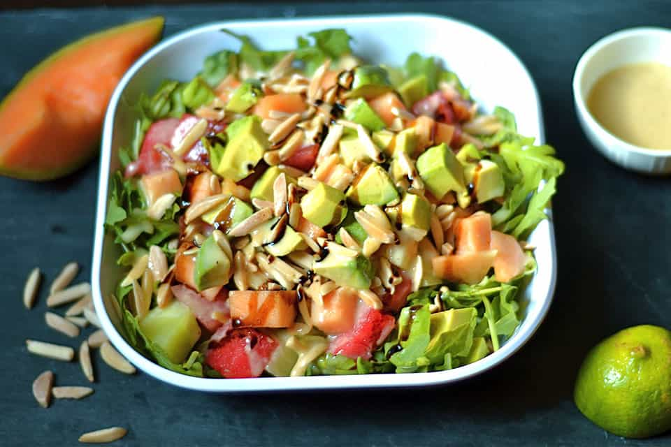 Melon and Arugula Salad with Honey Lime Vinaigrette 3