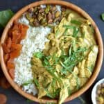 Slow Cooker or Instant Pot Apricot Curry Chicken