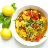 Slow Cooker or Instant Pot Lemon Basil Ratatouille