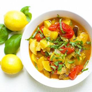 Slow Cooker or Instant Pot Lemon Basil Ratatouille