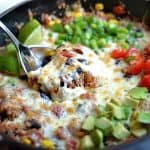Cheesy Black Bean and Corn Quinoa Taco Skillet