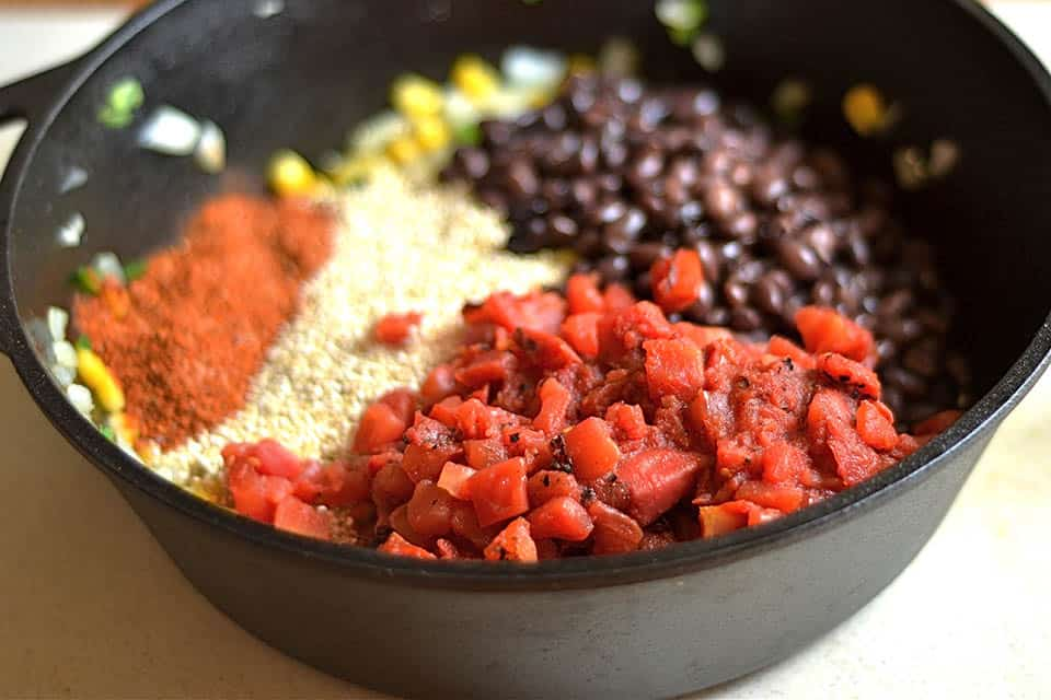 Cheesy Black Bean and Corn Quinoa Taco Skillet 4
