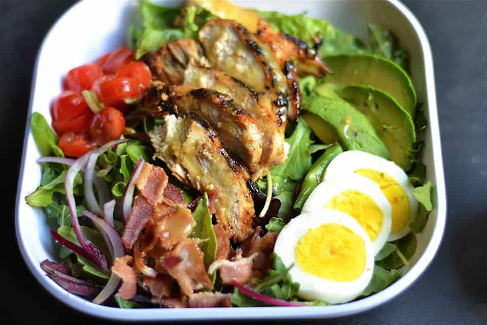 Grilled Honey Mustard Chicken Cobb Salad 3