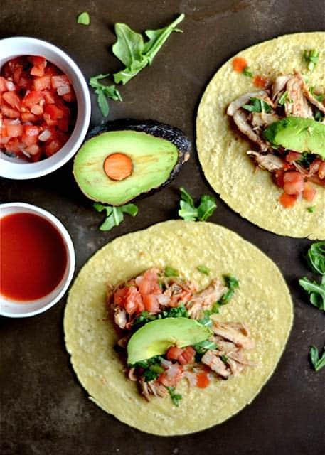 Slow Cooker Honey Buffalo Chicken Tacos 2