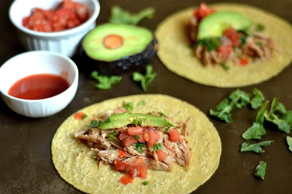 Slow Cooker Honey Buffalo Chicken Tacos 3