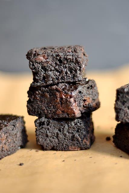 THE BEST Dark Chocolate Brownies