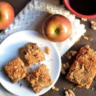 Paleo Apple Walnut Coffee Cake