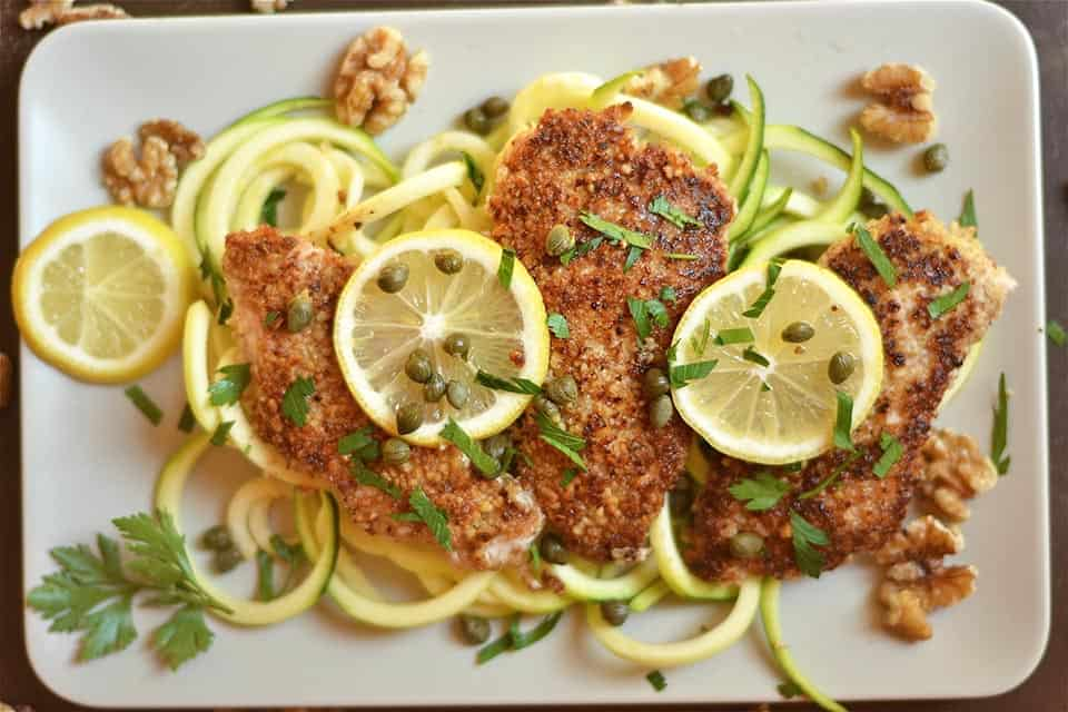 Walnut Crusted Lemon Chicken Piccata Wholesomelicious