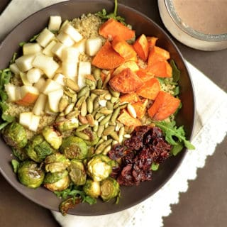 Fall Buddha Bowl with Quinoa and Toasted Pecan Dressing