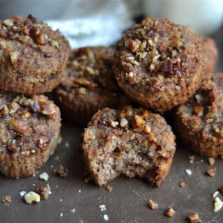 Grain-Free Maple Pecan Banana Bread Muffins