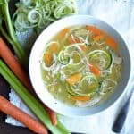 Slow Cooker or Instant Pot Chicken Zoodle Soup